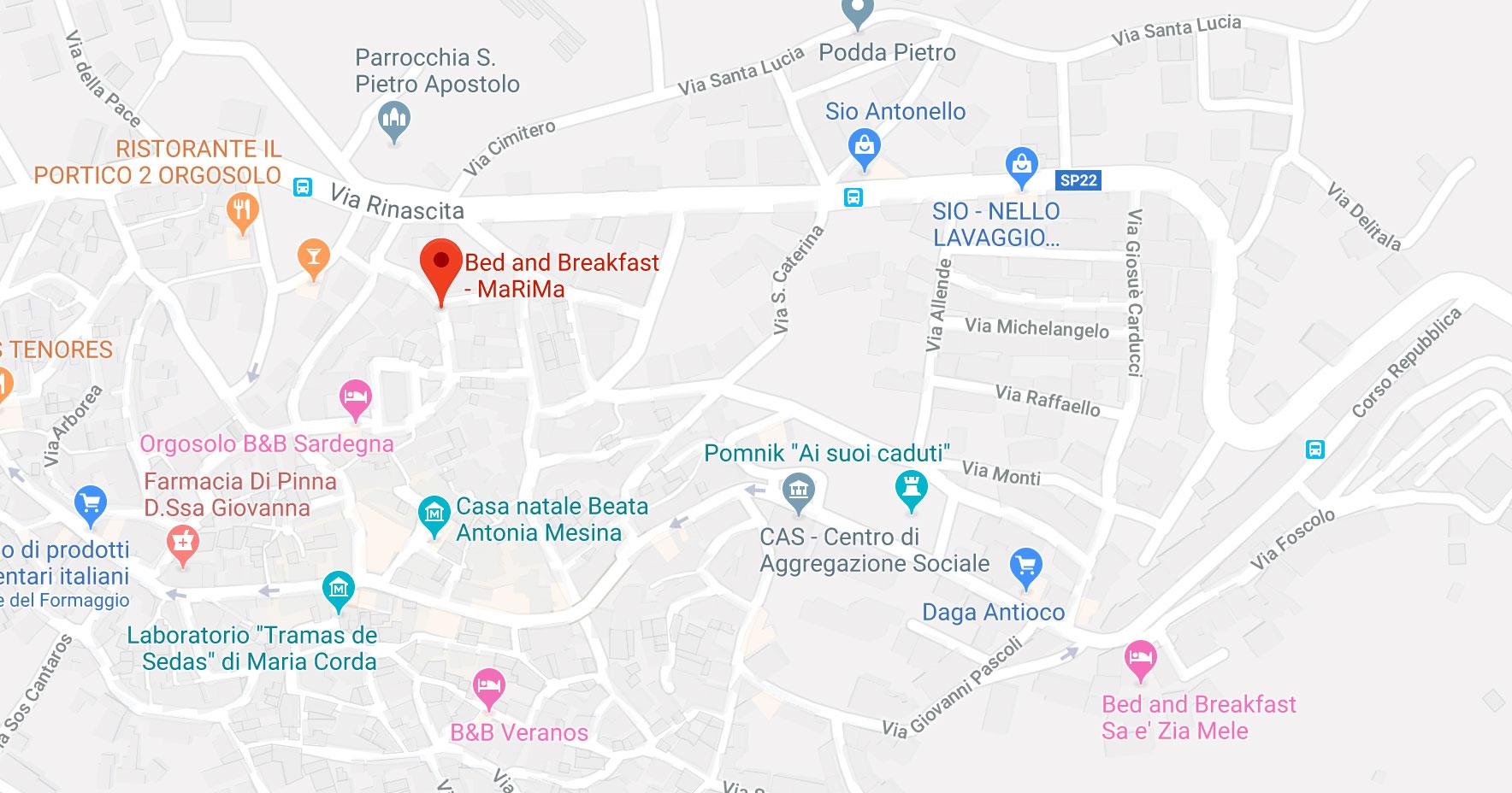mappa indirizzo orgosolo